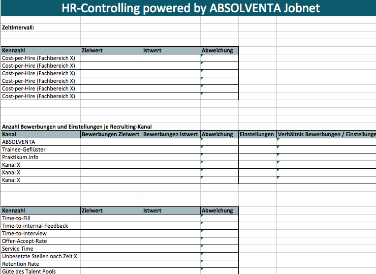 HR-Controlling Excel